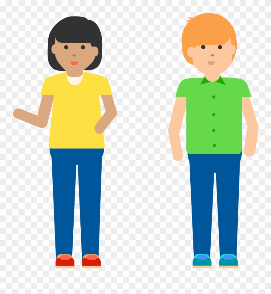 Brothers clipart person. One brother and sister