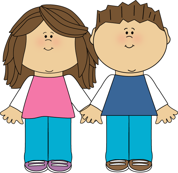 Brother and sister clip. Family clipart cute