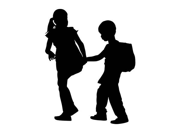 Brother clipart silhouette. Students kids boy girl