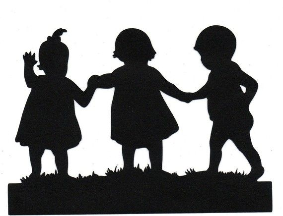 Brother clipart silhouette. Sisters child die cut