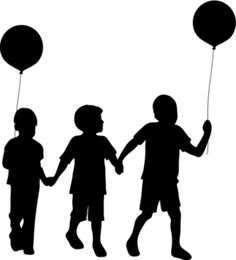 Silhouettes big sister little. Brother clipart silhouette