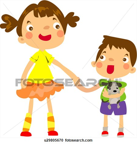 Brothers clipart sister. Brother and hugging
