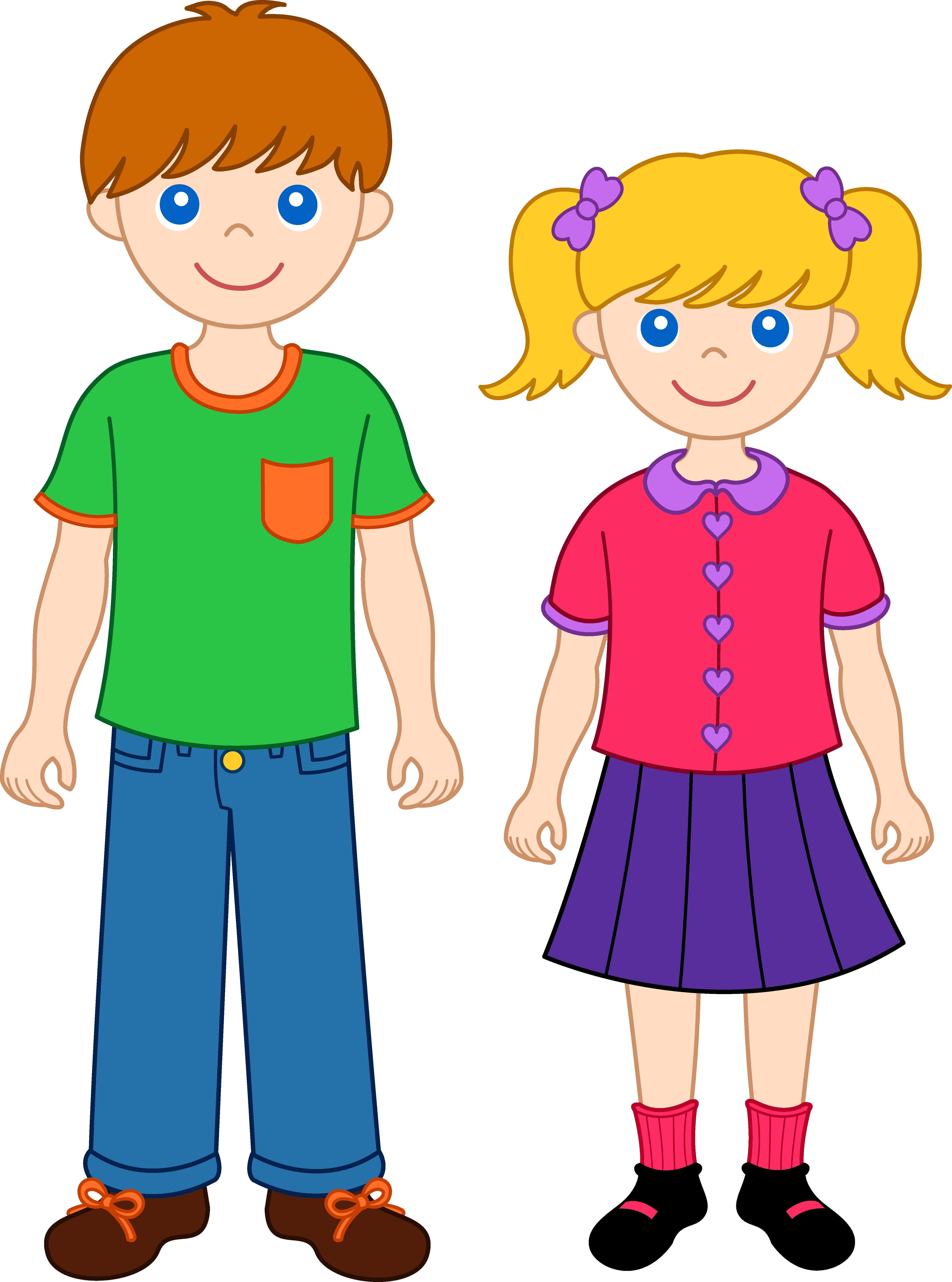Fresh sister design digital. Brothers clipart standing