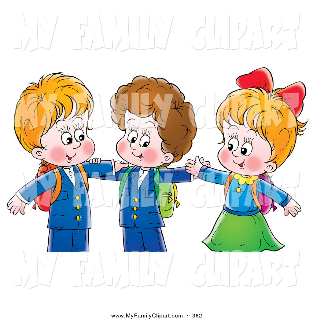 Royalty free stock family. Brother clipart student