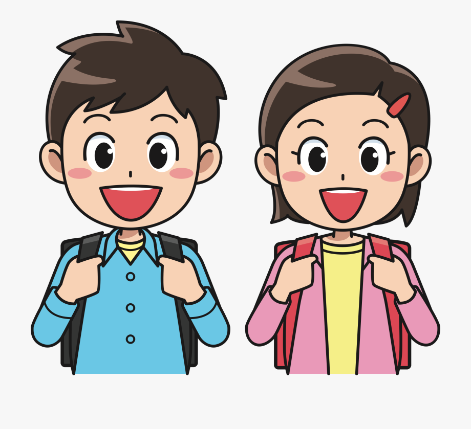 Brother clipart student. Backpack rucksack and sister