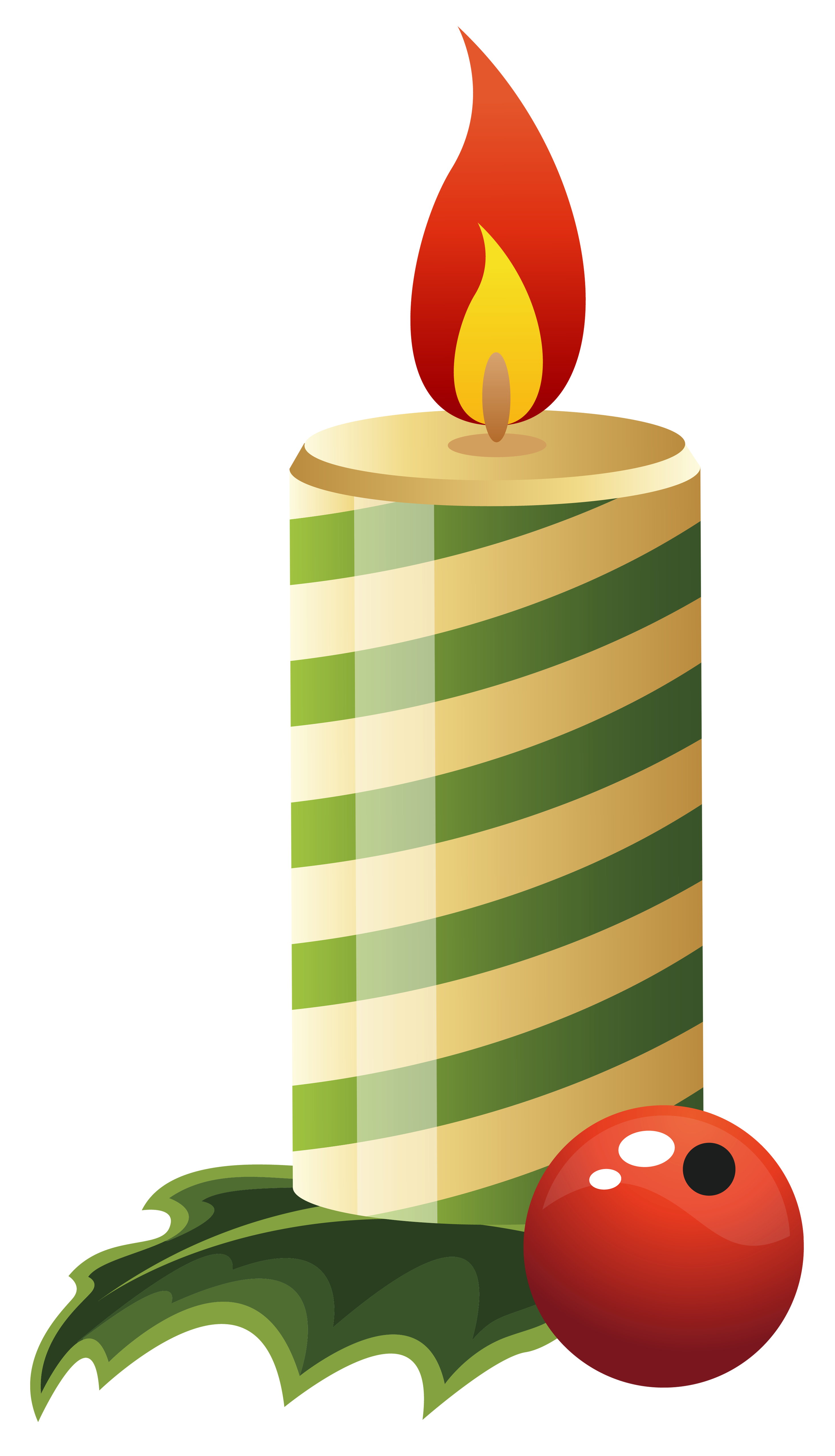 Candles clipart transparent background. Green christmas candle png