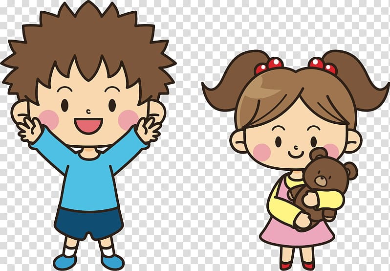 Brother clipart transparent. Boy and girl carrying