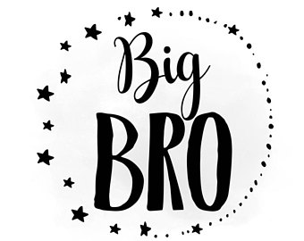 Little bro svg brother. Brothers clipart word