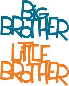 best silhouette images. Brother clipart word