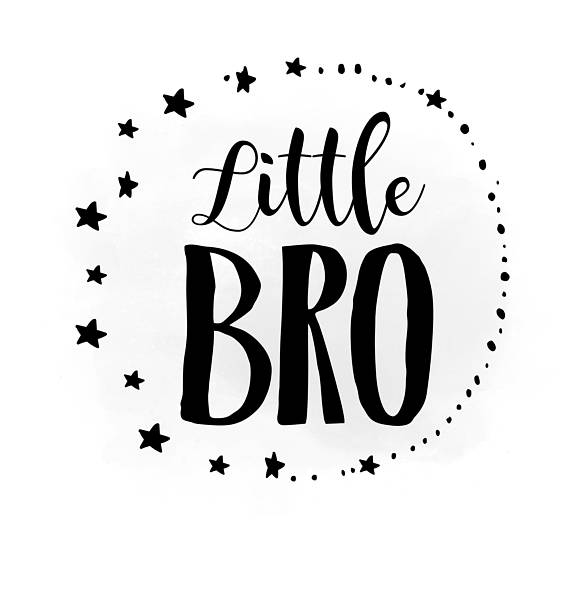 Brothers clipart word. Little bro svg brother