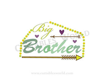 Family etsy big brother. Brothers clipart word