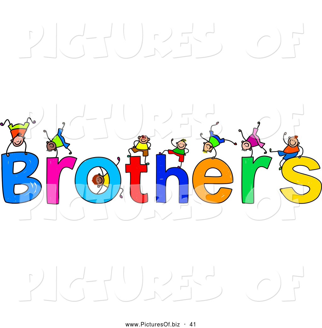 Of a children with. Brothers clipart word