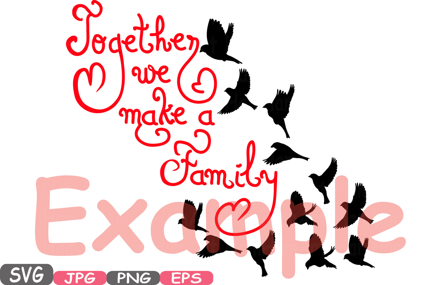 Brother clipart word. Together we make a