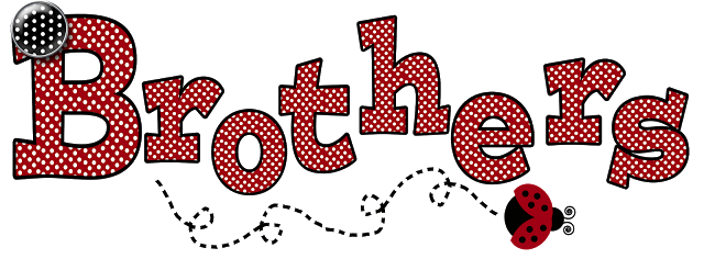 Free red polka art. Brothers clipart word