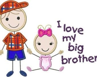 Brothers clipart. Fancy quotes about younger