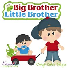 Big sister cutting files. Brother clipart little brother