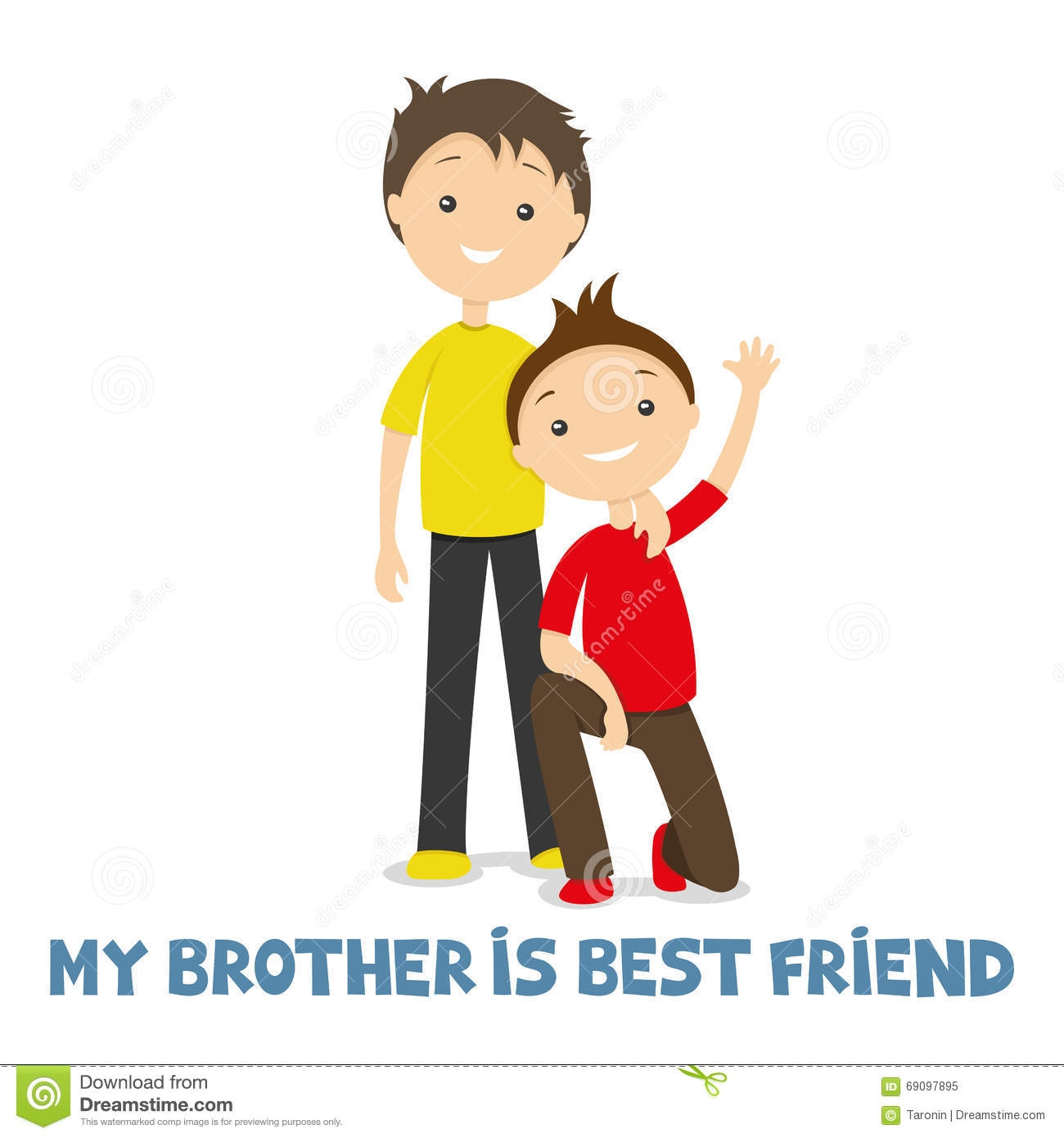 Best of brothers collection. Words clipart brother