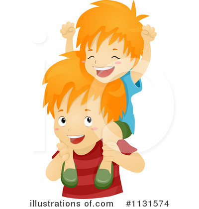 Illustration by bnp design. Brothers clipart