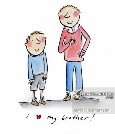 Younger cartoons and comics. Brothers clipart brother elder