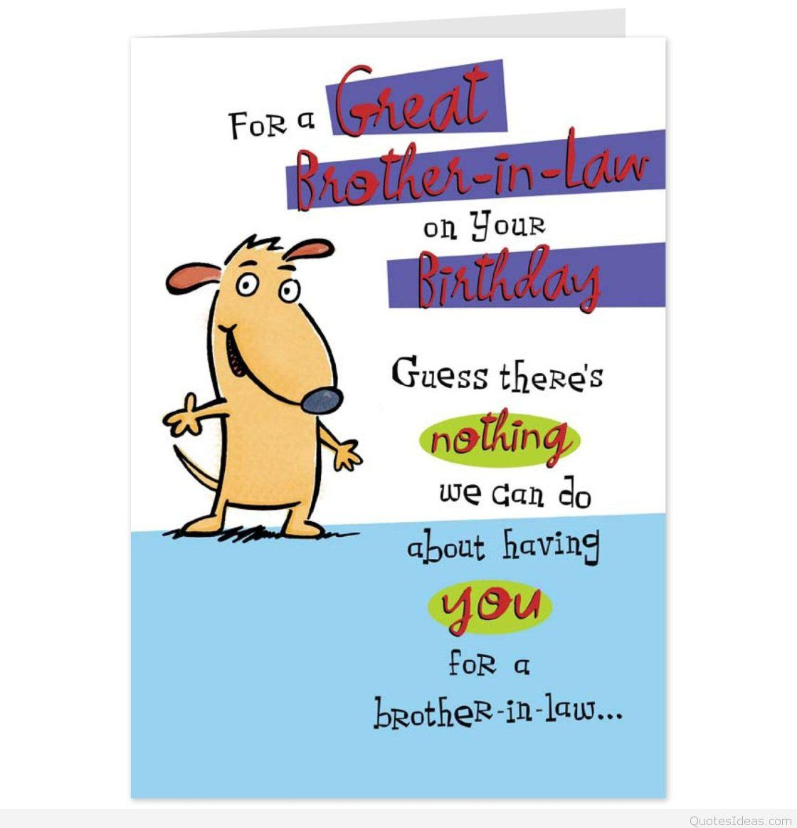 Happy birthday quotes cards. Brothers clipart brother in law