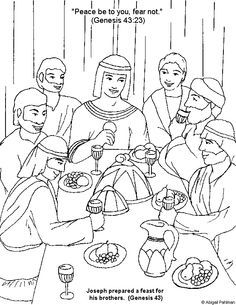 Joseph second in command. Brothers clipart coloring