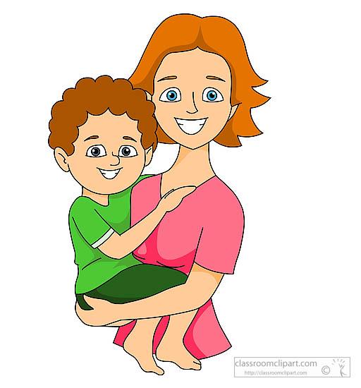 Children clipart mum. Of boy looking at