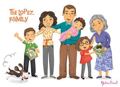 Grandma clipart hispanic. Latino family by julissa