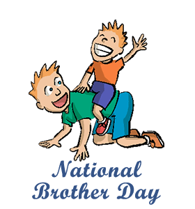 Brothers clipart old brother. S day calendar history