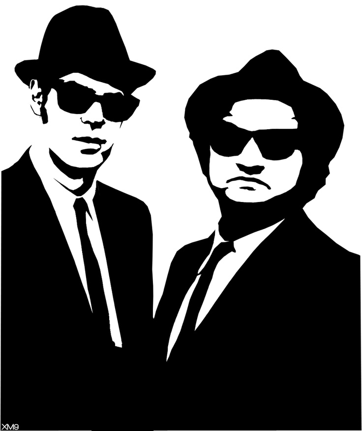 Brothers clipart silhouette. Blues