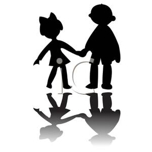 Kids clip art at. Brothers clipart silhouette