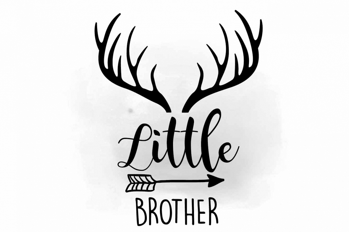 Little brother svg brot. Brothers clipart silhouette