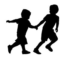 best silhouettes images. Boys clipart silhouette