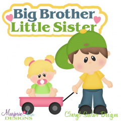 Big brother little cutting. Brothers clipart sister