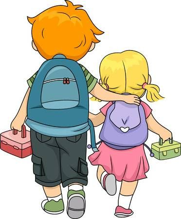 Brothers clipart sister. Stock illustration challenges in