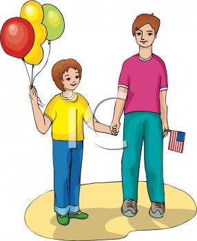 Holiday clip art of. Brothers clipart standing