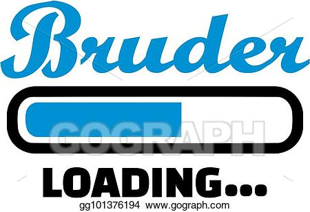 Brothers clipart word. Vector stock brother loading