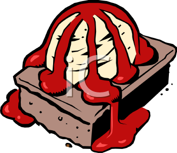 Picture of a dessert. Brownie clipart