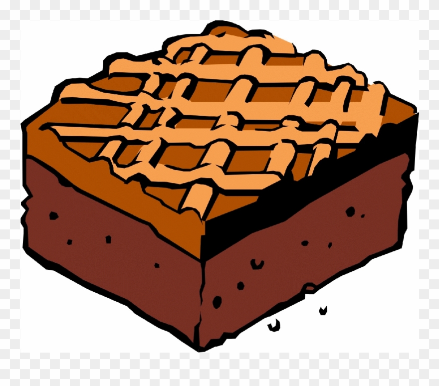 Brownie clipart. Plain chocolate png download