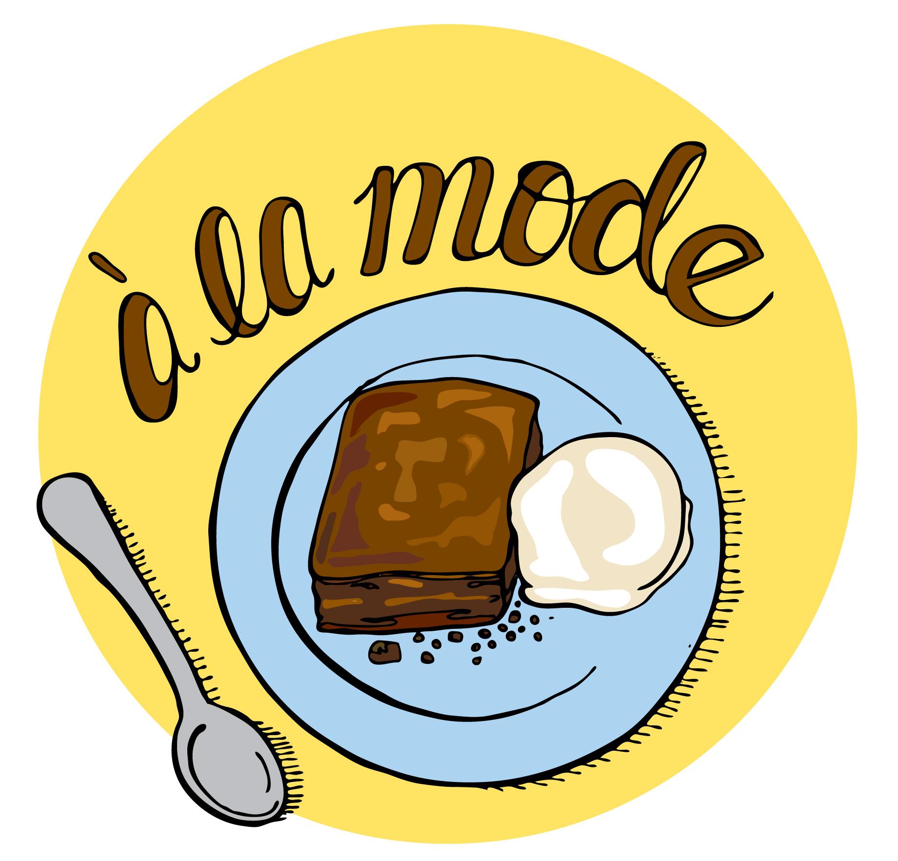 Brownie clipart baking brownie. June illustrated bites brownies