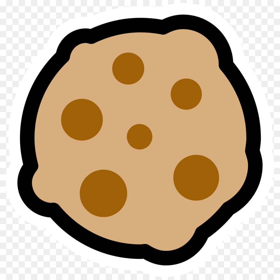 Chocolate chip cookie black. Brownie clipart biscuit