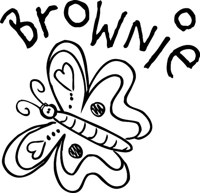 Brownie clipart black and white.  best girl scout