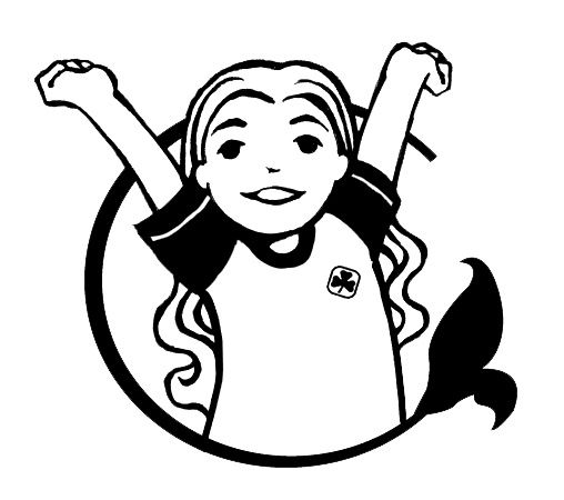 best girl guides. Brownie clipart black and white