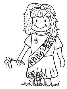 Brownie clipart black and white. Australian girl guide clip