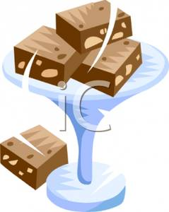 Brownie clipart choclate. Clip art image chocolate