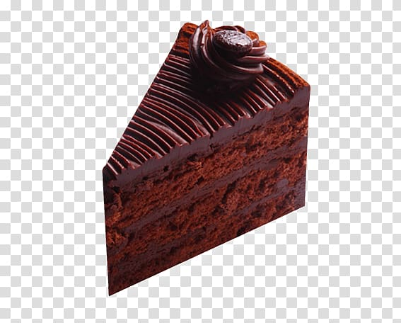 Sachertorte cake . Brownie clipart chocolate slice