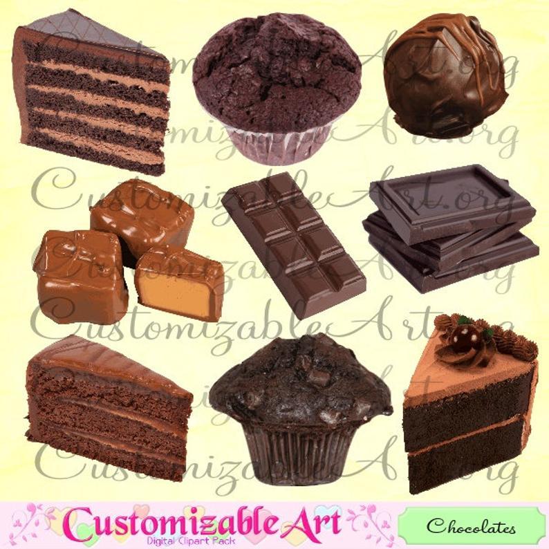 Digital chocolates clip art. Brownie clipart chocolate slice