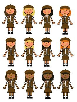 Brownie girl scout clip. Brownies clipart