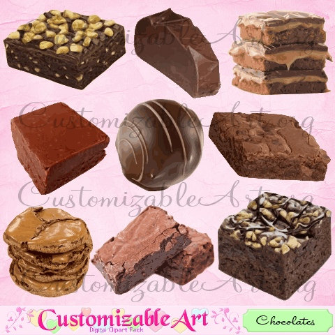 Digital chocolate cake clip. Brownies clipart cookie brownie