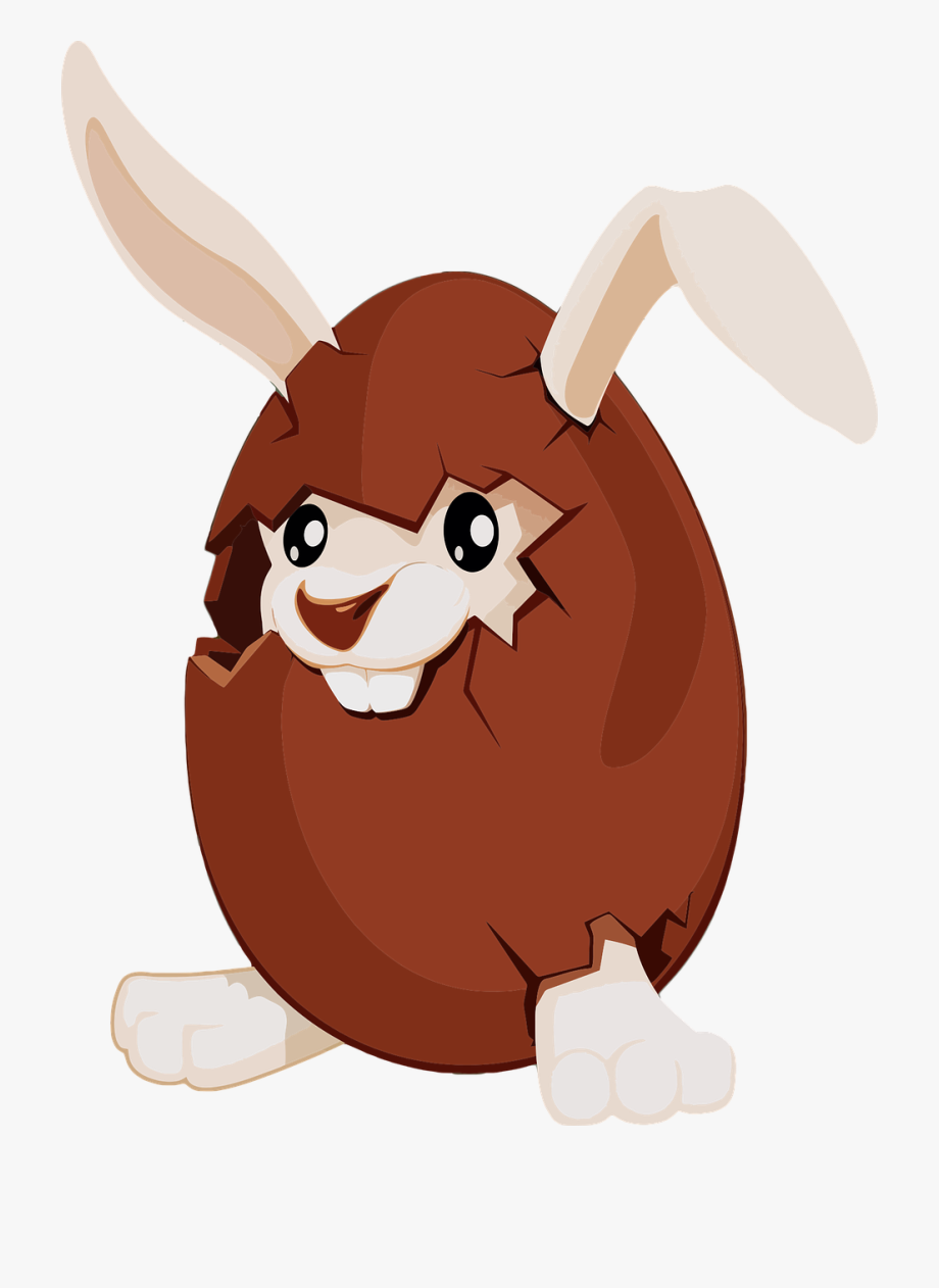 Egg free commercial bunny. Brownie clipart easter chocolate