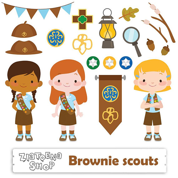 Brownie clipart easy. Girl scout clip art